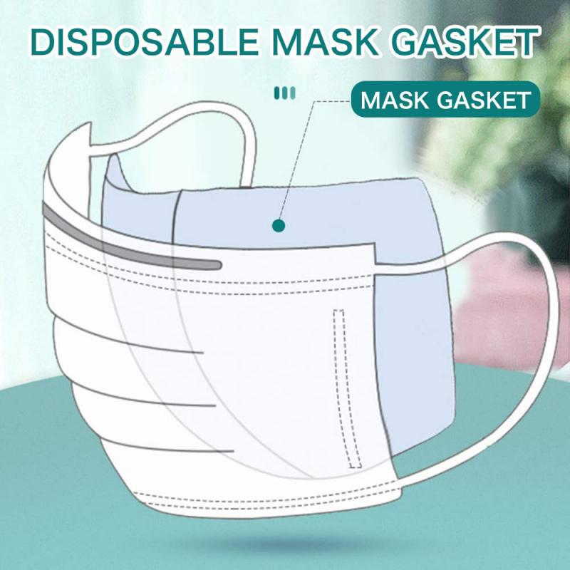 100 PCS Disposable Gasket Sheet Masks Gasket Filters Skin-friendly Anti-fog Pollution Dustproof Filter Non-woven Fiber Filters image