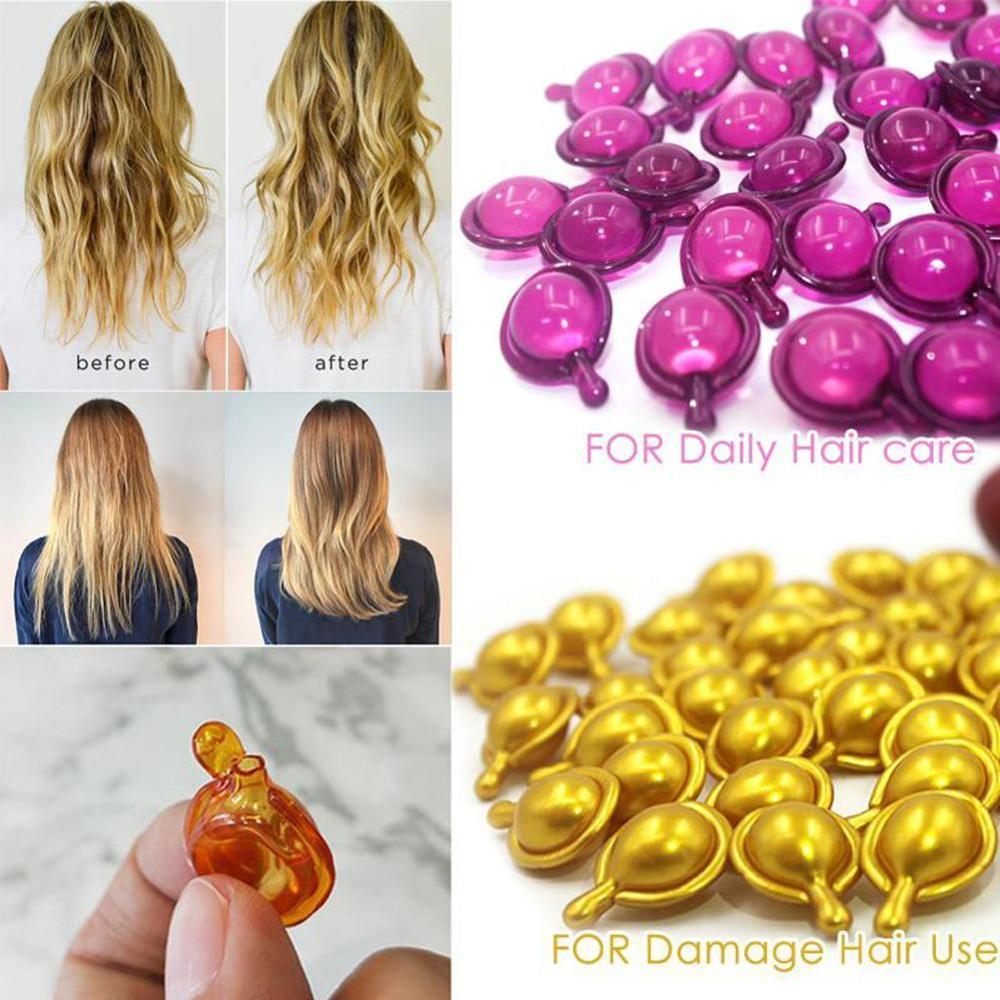 Hair Vitamin Capsule Pro Keratin Complex Oil Smooth Silky Hair Mask Repair Damaged Hair Serum Moroccan Oil Anti Hair Loss Agent