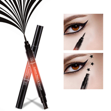 New Black Liquid Eyeliner Stamp Marker Eye Liner Waterproof Double-ended Eye Pencil Pen Cosmetic Eyeliner цена