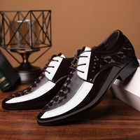2019 Office Men Dress Shoes Men Formal Shoes Leather Luxury Fashion Groom Wedding Shoes Men Oxford Shoes Dress 38-48 Pointed Toe