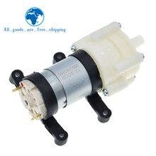Bomba de diafragma de aire para acuario TZT DC6-12V R385, redonda, accesorios