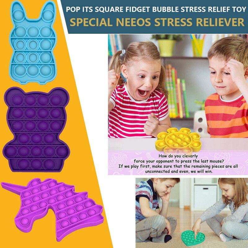 Fidget-Toys Autism Toy Pop-It-Stress Funny Push-Bubble Relief Sensory Adult Children img2