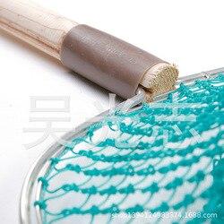 1.5m drewniana rączka Tube Copy Fishing Copy worek strunowy pogłębiony worek strunowy ręcznie tkana precyzyjna siatka nylonowa w Reflektory od Lampy i oświetlenie na