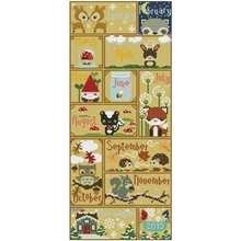December little cute card иллюстрация Счетный крест 11ct 14ct