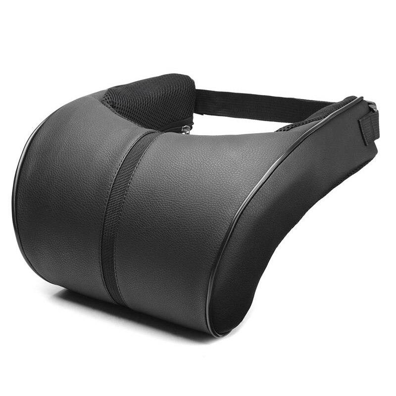 Adjustable Car Headrest Neck Pillow Faux Leather Neck Protection Rest Pillows 1X Neck Pillow     - title=