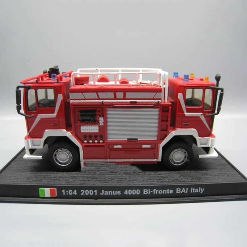 1/64 Scale Classic JANUS 4000 BI-FRONTE BAI Italy Fire Truck Vehicles Diecast Miniature Model Car Collection Collective Gifts