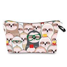 Favorable Cute Travel Pouch Cartoon Bradypod Print Cosmetic Bag Women Storage Makeup