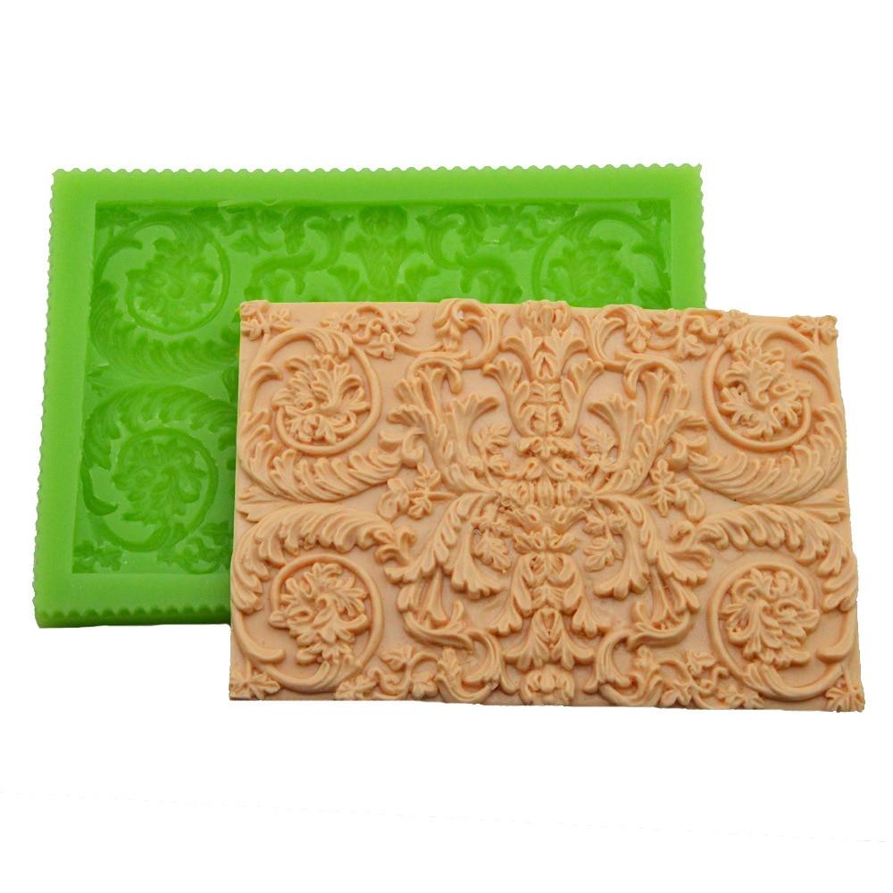 DIY European Style Embossed Fondant Cake Silicone Mold Decorating Tools Baking Clay