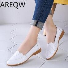 Г. Новая женская обувь кожаные туфли на плоской платформе белые женские туфли на плоской подошве с острым носком