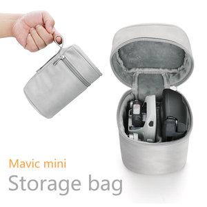 Image 1 - Saklama çantası Dji Mavic mini durumda Drone ve uzaktan kumanda taşıma çantası taşınabilir fermuar seyahat çantası aksesuarları