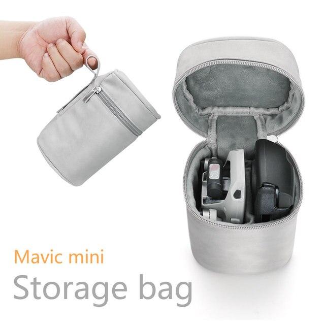 Saklama çantası Dji Mavic mini durumda Drone ve uzaktan kumanda taşıma çantası taşınabilir fermuar seyahat çantası aksesuarları
