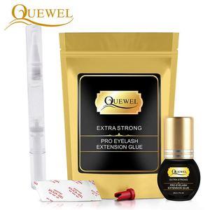 Image 2 - Quewel Eyelashes Extension Glue Set 5ml Lash Glue And 5g Gel Remover Pen 1 2 S Quick Drying Removing Individual Eyelash Tool