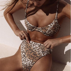 Женский купальный костюм-бикини, комплект купальников из 2 предметов, 2020, летний модный сексуальный комплект с бюстгальтером и трусиками, ко...