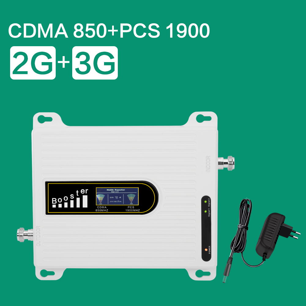 GSM 850 CDMA UMTS PCS 1900 Mobile Phone Amplifier LTE 850 PCS 1900 Mhz Celular Signal Booster 2g 3g Cellular Repeater Repetidor