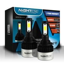 NIGHTEYE 9000LM H4 H11 H7 Led reflektory samochodowe żarówki 6500K H8 H1 HB3 9005 HB4 9006 72W 360 stopni samochodowe światła przeciwmgielne Auto u nas państwo lampy