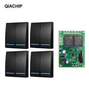 Image 1 - Qiachip 433 MHz Bộ Công Tắc Điều Khiển Từ Xa DC 5V 12V 24V Thu 86 Tường Bảng Điều Khiển 2 Nút tự Làm Phòng Ngủ Đèn Không Dây Thông Minh