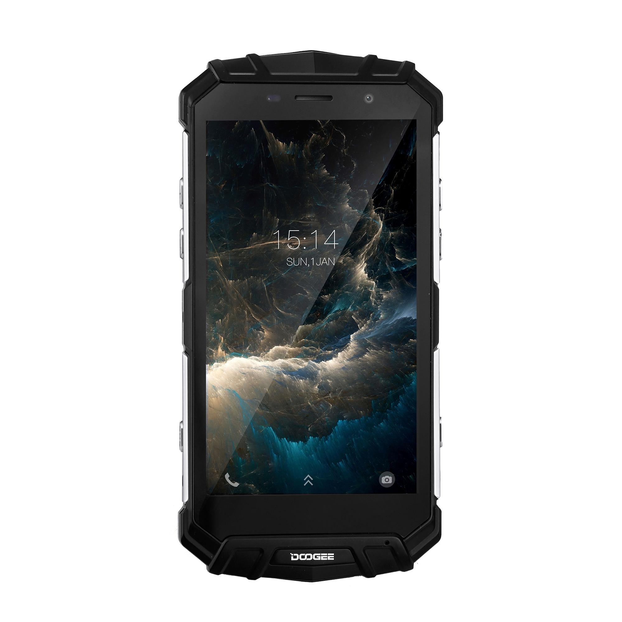 "Doogee S60 Lite IP68 4G Smartphone Android 7.0 NFC Draadloze Lading Water/Stofdicht 5580mAh 5.2 ""4 GB + 32GB Touch ID Mobiele telefoon"