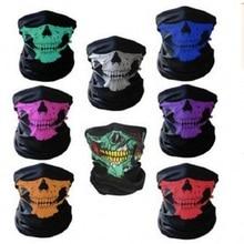 все цены на 1pcs Party Mask Skull Festival Skull Masks Skeleton Magic Bicycle Ski Skull Half Face Mask Ghost Scarf Multi-function Neck Ghost онлайн