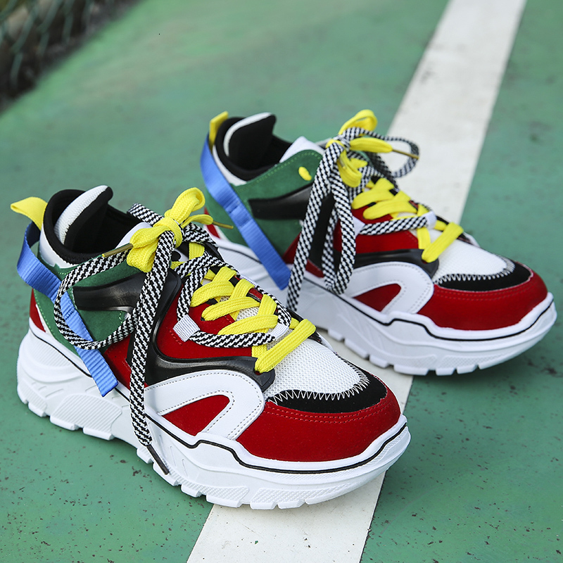 2020 Fashion Women Chunky Sneakers Platform Tenis Female Trainers Brand Designer Casual Shoes Woman Dad Shoes Vulcanized Shoes
