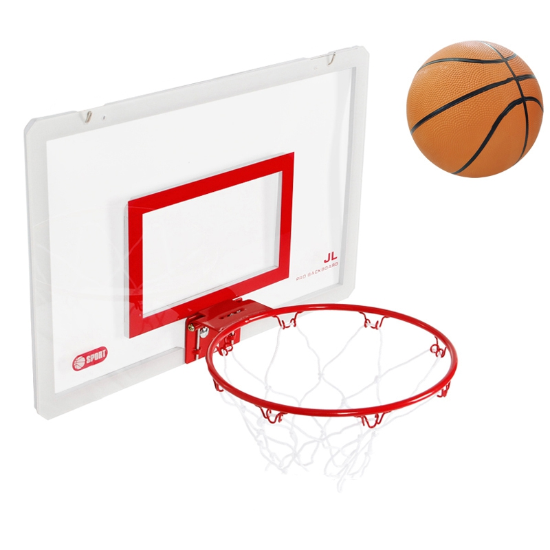 Hanging Door Basketball Board Punch-Free Transparent Hanging Mini-Backboard Children's Backboard Toy Sporting Goods Basketball S