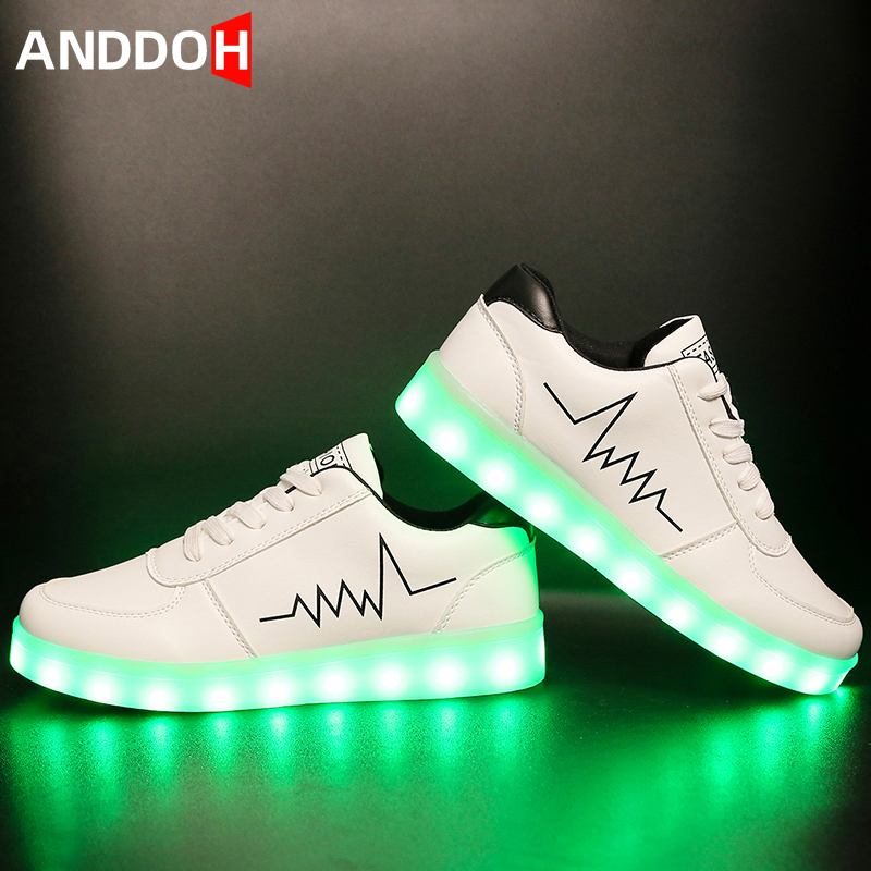Size 30-41 Children Glowing Casual Shoes Child Sneakers With Luminous Sole Boys Led Light Up Shoes Children Glowing Sneakers