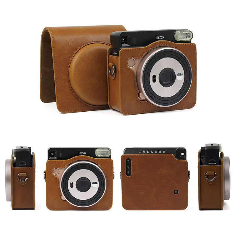 Funda Instax Camera Case for Fujifilm Instax Square SQ6 Instant Camera PU Leather Bags with Shoulder Strap For Instax SQ6 Cases|Camera/Video Bags| |  - title=