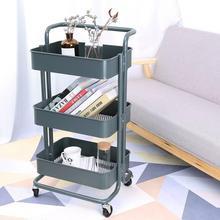 Multi-purpose trolley with wheels storage 3 levels kitchen office bathroom