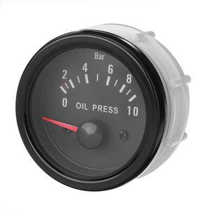 Image 3 - العالمي سيارة النفط قياس الضغط أطقم 2 52 مللي متر 12 فولت الأبيض الرقمية LED قراءات الأسود لين الوجه النفط الصحافة متر مع 1/8 NPT الاستشعار