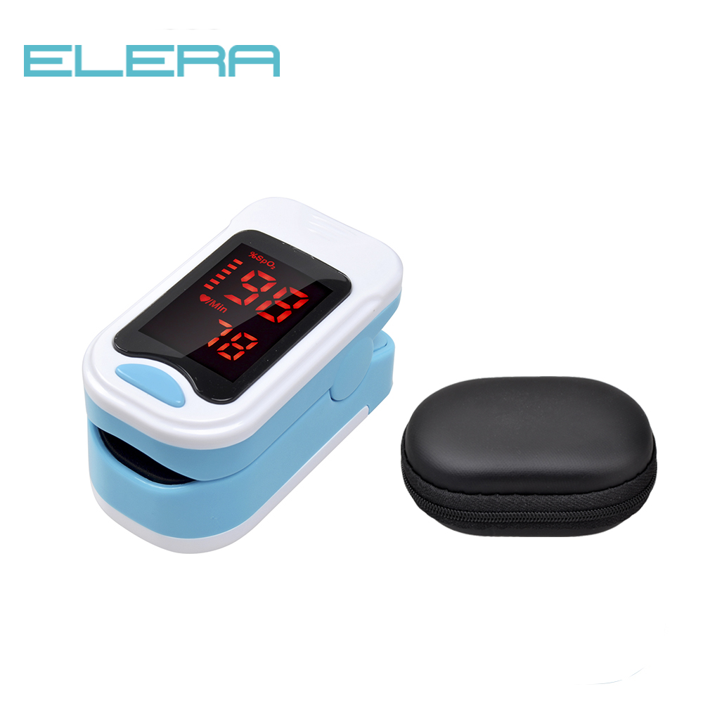 ELERA Portable Finger Pulse Oximeter SPO2 PR Pulse Oximeter A Finger LED Pulsioximetro Oximetro De Dedo Digital With Pouch