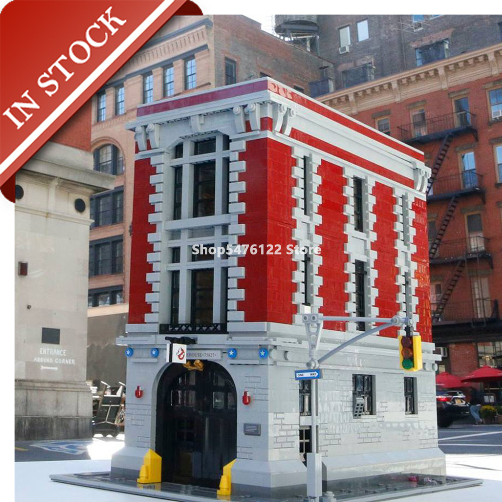 Street View Ghostbusters Firehouse 75827 16001 In Stock Building Blocks 4600+Pcs Creator Expert Construction Set 83001
