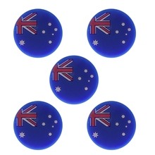 5Pcs/Pack National Flag Tennis Racket Shock Absorber Racquet Vibration Dampeners Shockproof Dampers Sports Accessories