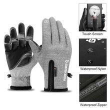 Зимние термальные лыжные перчатки для мужчин, женщин и детей, флисовые перчатки для катания на сноуборде с сенсорным экраном, водонепроницаемые зимние мотоциклетные перчатки для катания на лыжах
