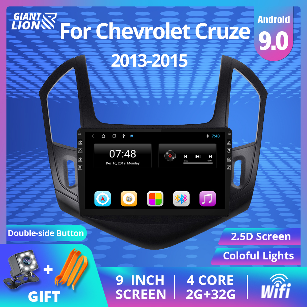 J300 J308 2Din Android 9.0 Rádio Do Carro Para Chevrolet Cruze 2012-2015 Car Multimedia Player De Vídeo de Navegação GPS Não 2din Dvd Player
