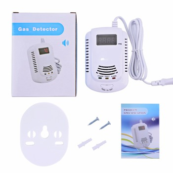 Wired Gas Detector Combustible Gas Sensor Gas Leakage Alarm Tester Sensor Light Voice Prompt Warning for Home Kitchen tgs3870 figaro sensor gas sensor