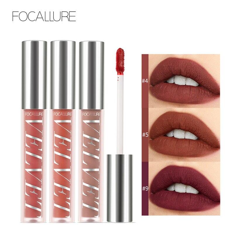 FOCALLURE, lápiz labial líquido mate de terciopelo, pigmento de tinte labial Sexy de alta calidad, impermeable, larga duración, textura suave y ligera Natural