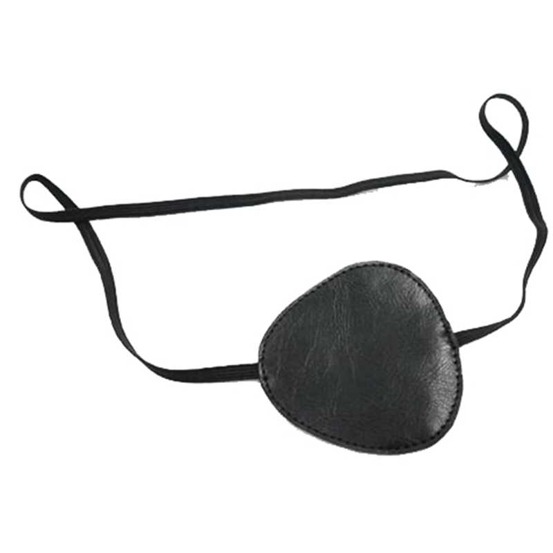 Black Leather White Stitching Metal Gear Solid Snake Big Boss Inspired Cosplay Costume Eye Patch by Darkwear Clothing