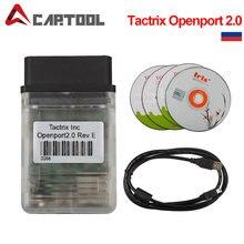 Gorąca sprzedaż najnowszy Tactrix Openport 2.0 z lampa błyskowa ECU Auto narzędzie do strojenia chipów dla OBD CAN ISO k-line protokoły wielu marek samochodów