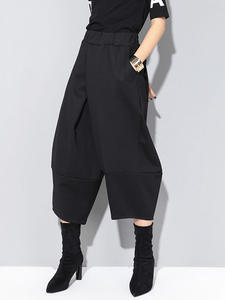 [ XITAO ] свободные женские европейские модные прямые брюки весна-лето 2019, Женские однотонные штаны до середины икры с эластичной резинкой на т...