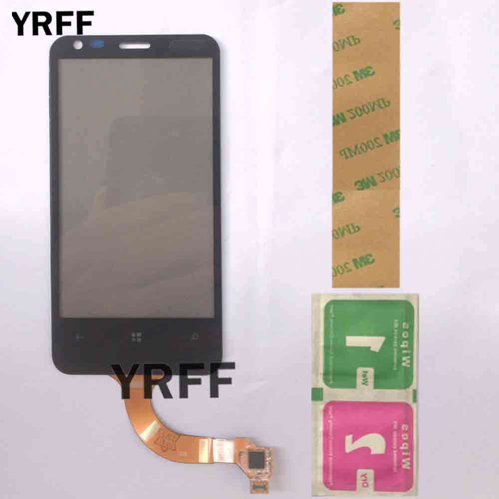 Touch Screen Panel For Nokia Lumia 620 N620 Digitizer Touch Panel Front Glass Lens Sensor Replacement Parts 3M Glue Wipes
