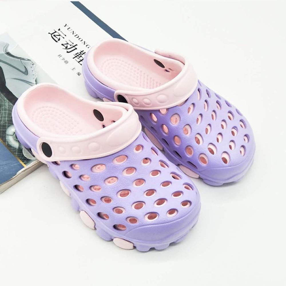 2020 New EVA Summer Hole Sandals Beach Shoes Trend Breathable Men's Slippers Couple Large Size Flip-flops Flat Slippers Slide