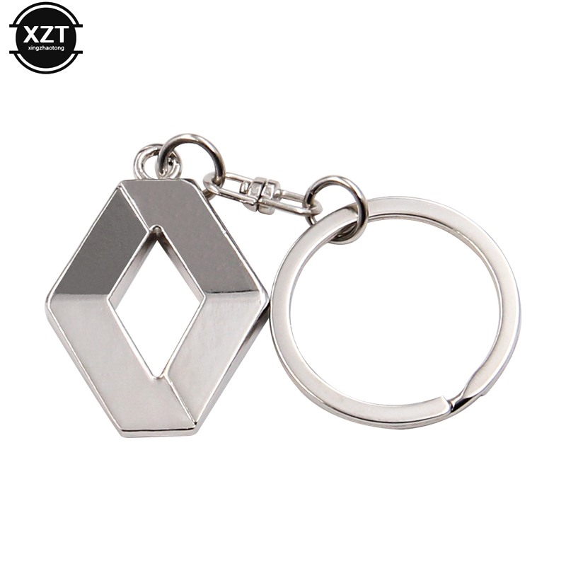 3D Metal Car Key Ring for Renault 1Pc Fashion Brand New Auto Supplies Renault Emblem Keychain Reynolds Accessories car Key Chain