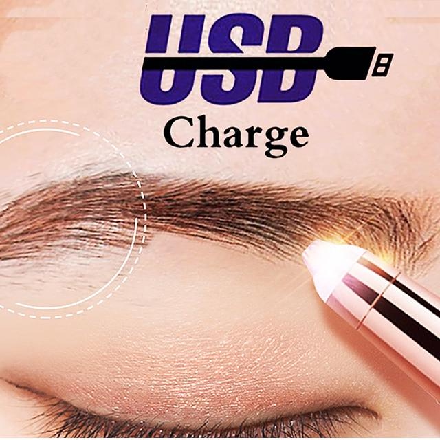 USB 150mAh Electric Eyebrow Trimmer Pen Hair Remover Eyebrow Razor/Epilator Painless Multifunction Eye Brow Trimmer Face Shaver