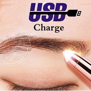 Image 2 - USB 150mAh חשמלי גבות גוזם עט שיער מסיר גבות גילוח/אפילציה ללא כאבים תכליתי עיניים גבות גוזם פנים מכונת גילוח