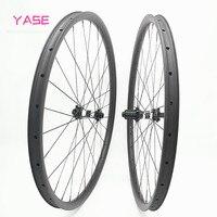 Ultraleve mtb wheelset 29er 28x22mm sem câmara em linha reta puxar dt350s impulso 100x15 142x12 roda de disco de carbono