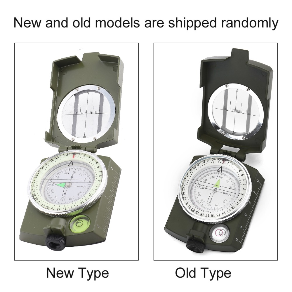 American Camping Survival Compass Lensatic Geological Digital Compass K4580 #E
