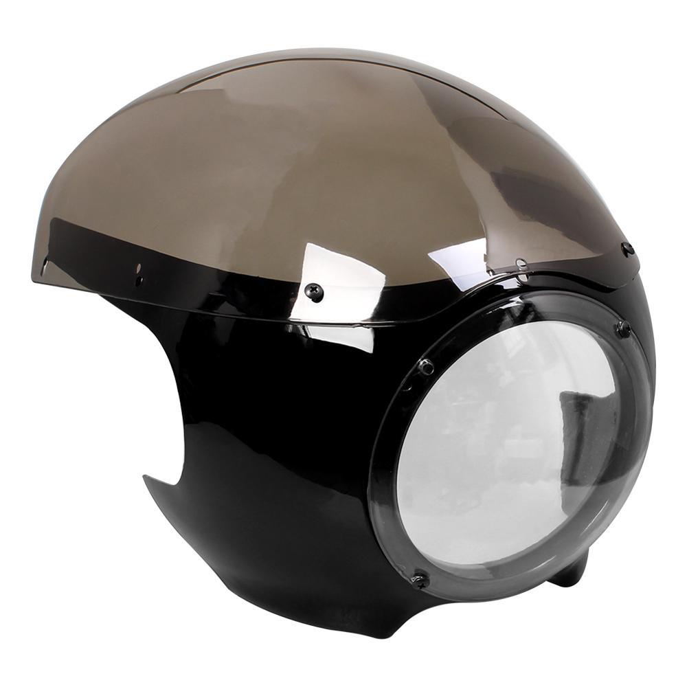 Передняя фара для Кафе Racer Cherk 5 3/4 дюйма, обтекатель ветрового стекла для Harley Sportster 883 1200 XL Dyna 39 мм, вилки, новые аксессуары для мотоциклов