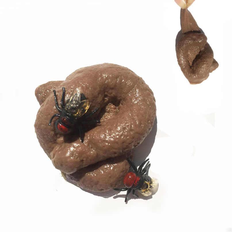 Realistyczne gówno kawałek Prank fajne zabawki fałszywe kupa antystresowy gadżet Squish zabawki Joke zabawki do robienia sztuczek Turd Mischief Holoween