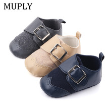 2020 PU Leather Newborn Baby Moccasins Shoes Spring Autumn Cute Soft Soled Non-slip Crib Shoes Anti-SlipFirst Walker
