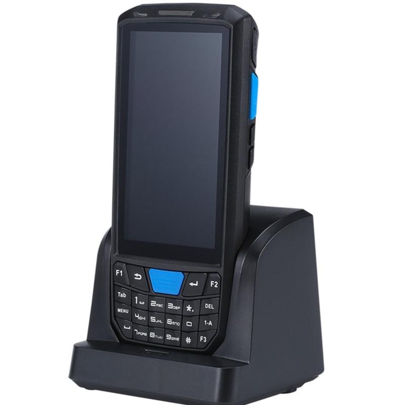 Android 8.1 PDA Barcode scanner 1D 2D QR code Honeywell Newland Scanner IP66 Wifi 4G 4.5'' screen keyboard NFC PDA Data Terminal(China)
