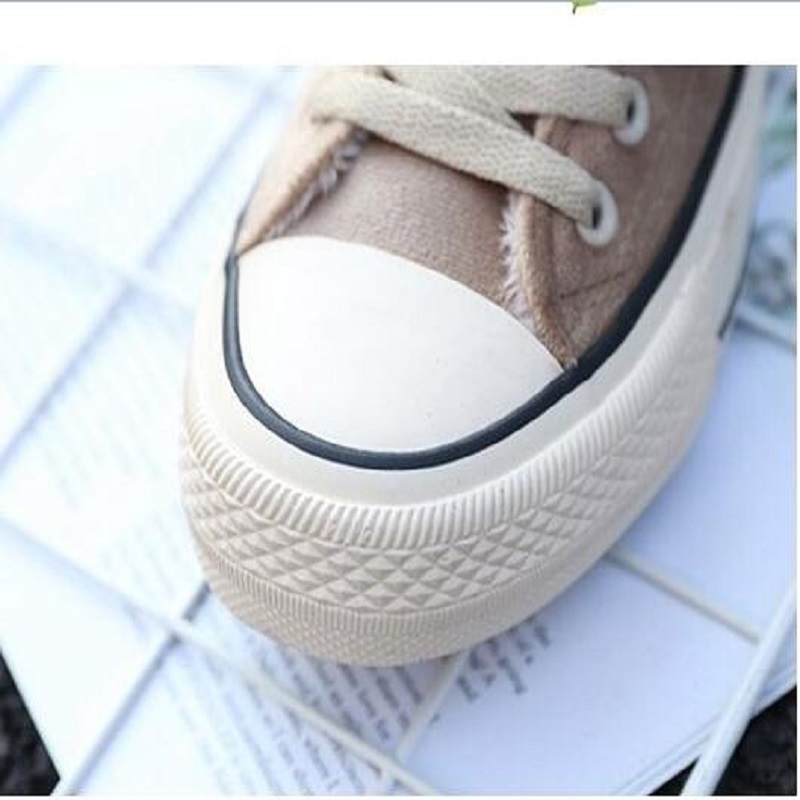 Winter new cotton shoes simple plus velvet high canvas shoes Korean version of the thick warm two cotton shoes 29